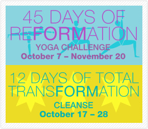 45 Days of Reformation and 12 Day Cleanse