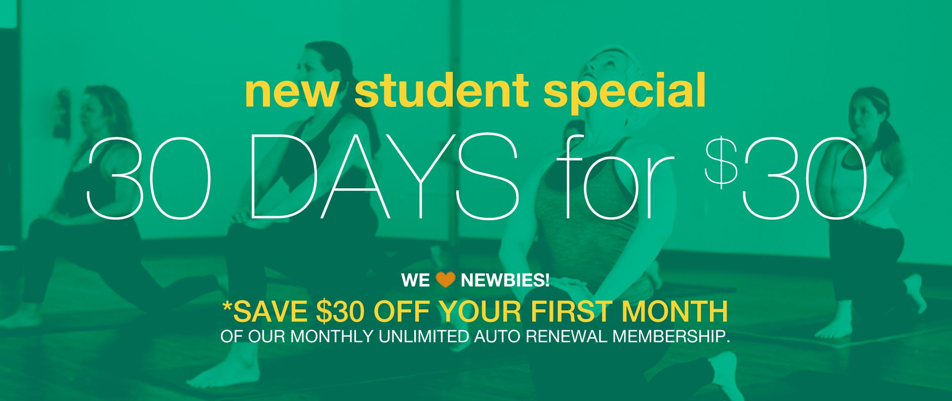 new student special form yoga Decatur Atlanta