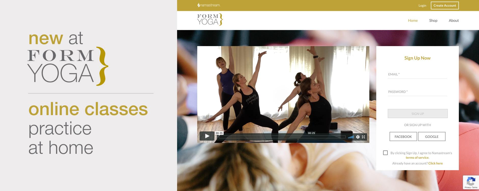 online yoga classes Atlanta Decatur FORM yoga