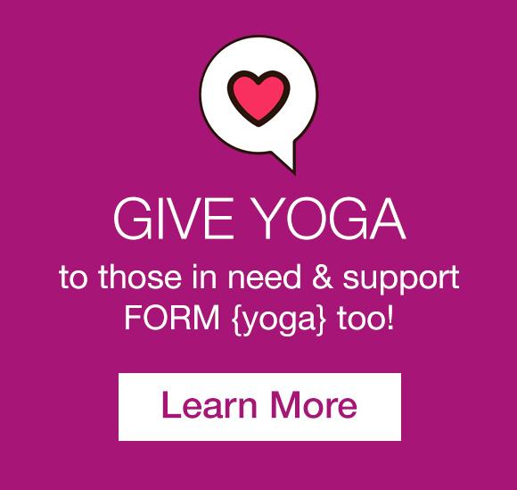 give FORM yoga donate Decatur Atlanta