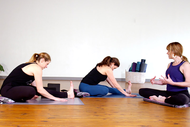 stretch it out yoga class with Mandy Roberts