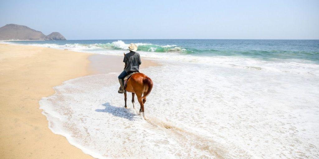 Todos Santos horseback riding beach