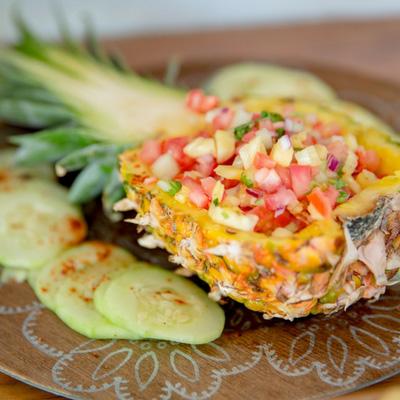 todos santos local food pineapple
